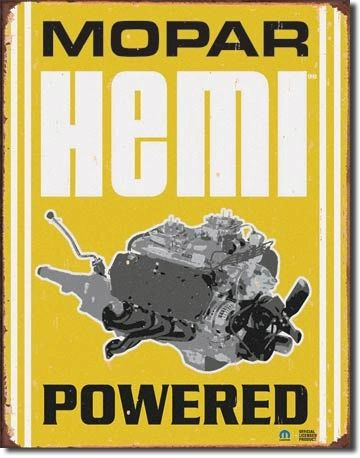 Mopar Hemi Powered Metal Sign