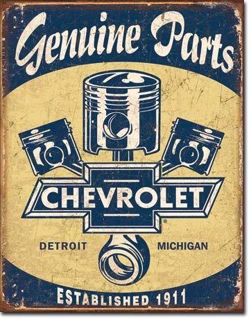 Chevy Parts Vintage Metal Sign