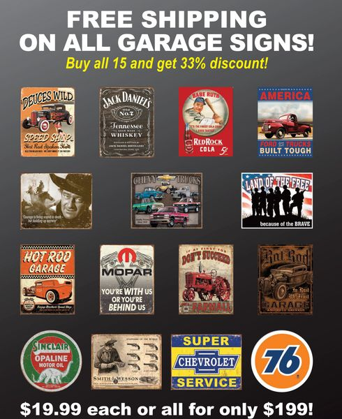 Garage Signs Value Package F