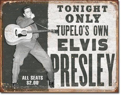 Elvis Presley Metal Sign