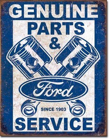 Ford Parts Vintage Metal Sign