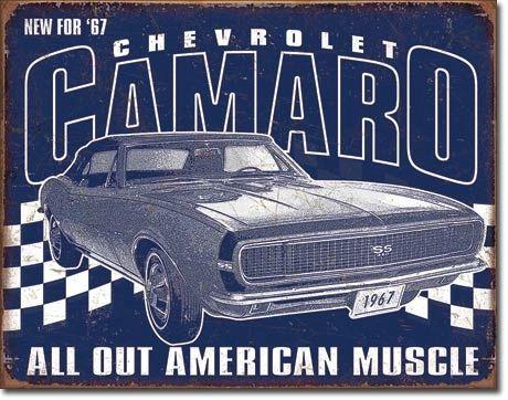 1967 Camaro Vintage Metal Sign