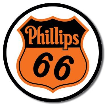 Phillips 66 Gas Metal Sign