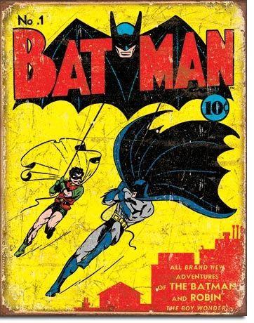 Batman No. 1 Comic Book Cover Vintage Metal Sign