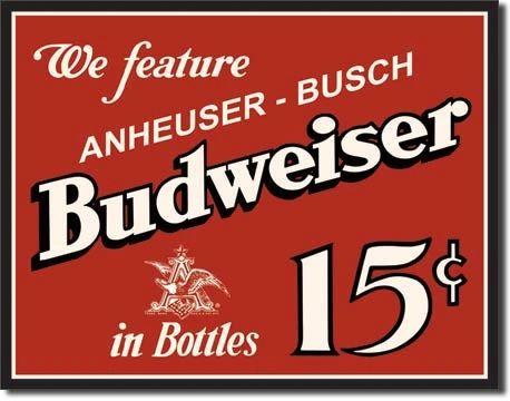 Budweiser Metal Sign