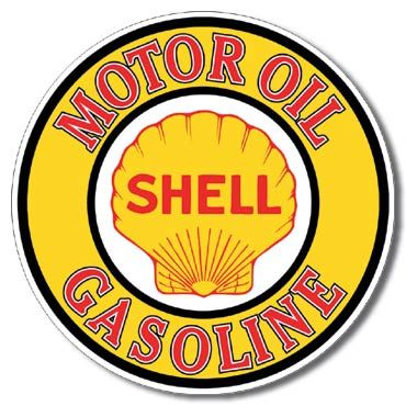 Shell Motor Oil Metal Sign