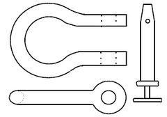 FlawTech-P005 Forged Shackle & Pin