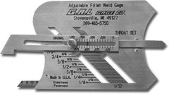 Fillet Weld Gauge: Adjustable Welding Gauge, Inch or Metric, GG-3
