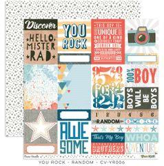 Cocoa Vanilla Studio YOU ROCK Random 12 x 12 Cardstock