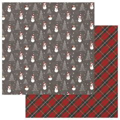 PHOTOPLAY MAD 4 PLAID CHRISTMAS 12 X 12 CARDSTOCK Frosty