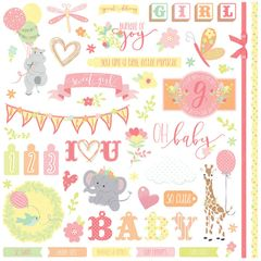 About a Little Girl 12 x 12 Cardstock Stickers - Elements