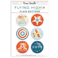 Cocoa Vanilla Flying High Flair Buttons