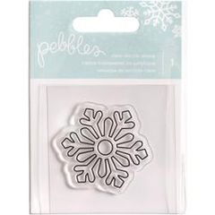 Pebbles Inc. Clear Acrylic Stamp - Snowflake
