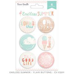 Cocoa Vanilla Endless Summer Flair Buttons