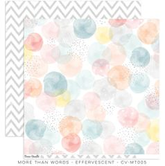 Cocoa Vanilla Studio More Than Words EFFERVESCENT 12 x 12 Cardstock