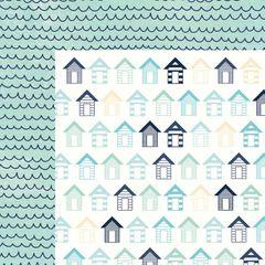 Kaisercraft Summer Splash 12 x 12 Double Sided Paper Beach Huts