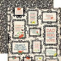 Carta Bella Our Family Heart of the Home 12 x 12 Cardstock
