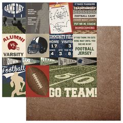 PhotoPlay End Zone 12 x 12 Cardstock GO TEAM
