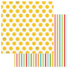 Photo Play Paper - Summer Bucket List 12 x 12 Double Sided Paper - Summer Sun