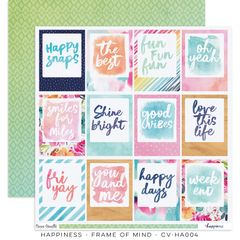 Cocoa Vanilla Studio Happiness Frame of Mind 12 x 12 Cardstock