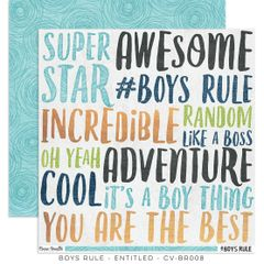 Cocoa Vanilla Studio Boys Rule Entitled 12 x 12 Cardstock