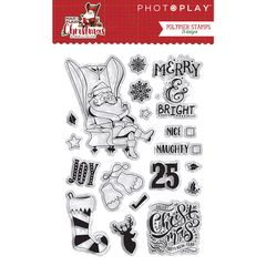 PHOTOPLAY MAD 4 PLAID CHRISTMAS Polymer Stamps