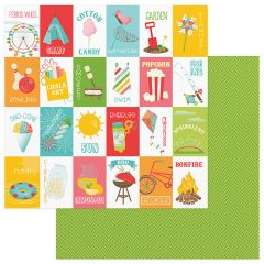 Photo Play Paper - Summer Bucket List 12 x 12 Double Sided Paper - Bucket List