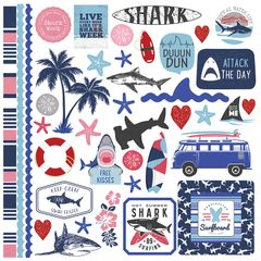 PhotoPlay Shark attack 12 x 12 Element Stickers