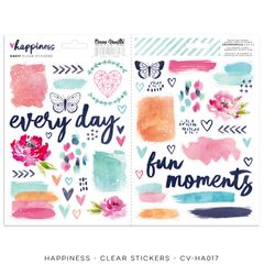 Cocoa Vanilla Studio Happiness Clear Stickers