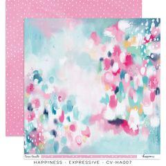 PRE ORDER Cocoa Vanilla Studio Happiness Expressive 12 x 12 Cardstock