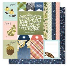 1 One Canoe Two Creekside 12 x 12 Double Sided Cardstock Take Note