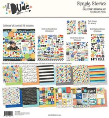 Simple Stories Lil' Dude Collection 12 x 12 Collector's Essential Kit