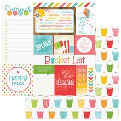 Photo Play Paper - Summer Bucket List 12 x 12 Double Sided Paper - Fun Day