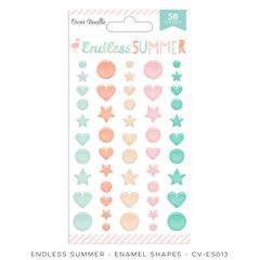 Cocoa Vanilla Endless Summer Enamel Shapes