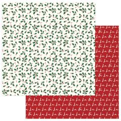 PHOTOPLAY MAD 4 PLAID CHRISTMAS 12 X 12 CARDSTOCK Holly