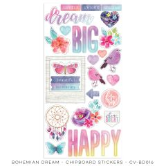 Cocoa Vanilla Studio Bohemian Dream Chipboard Stickers