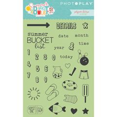 Photo Play Paper - Summer Bucket List Clear Acrylic Stamps - Planner