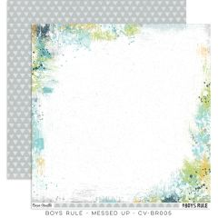 Cocoa Vanilla Studio Boys Rule Messed Up 12 x 12 Cardstock