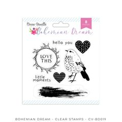 Cocoa Vanilla Studio Bohemian Dream Clear Stamps