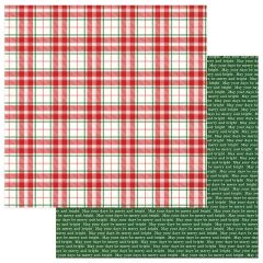 PHOTOPLAY MAD 4 PLAID CHRISTMAS 12 X 12 CARDSTOCK MERRY