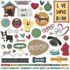 Cooper & Friends 12 x 12 Element Stickers