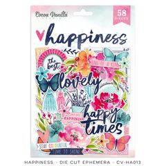 Cocoa Vanilla Studio Happiness Die Cut Ephemera Pack