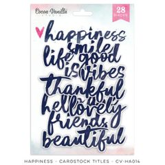Cocoa Vanilla Studio Happiness Die Cut Cardstock Titles