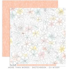 Cocoa Vanilla Studio More Than Words SKETCHBOOK 12 x 12 Cardstock