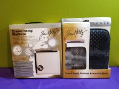 Tim Holtz Travel Stamp Platform & Sleeve Bundle