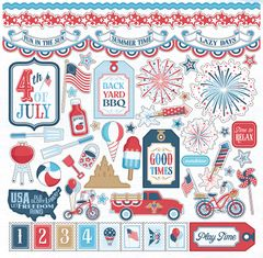 Photoplay Main Street Parade 12 x 12 Element Sticker Sheet