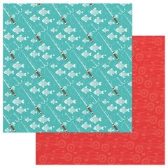 Photo Play Paper - Summer Bucket List 12 x 12 Double Sided Paper - Gone Fishing