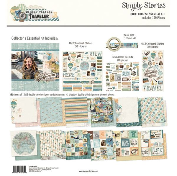 Simple Stories Simple Vintage Traveler 12 x 12 Collector's Essential Kit