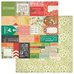 Photoplay Fresh Picked 12 x 12 Double Sided Cardstock Tags