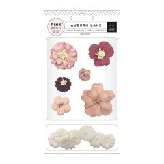 Pink Paislee - Auburn Lane Collection - Dimensional Cloth Flowers
